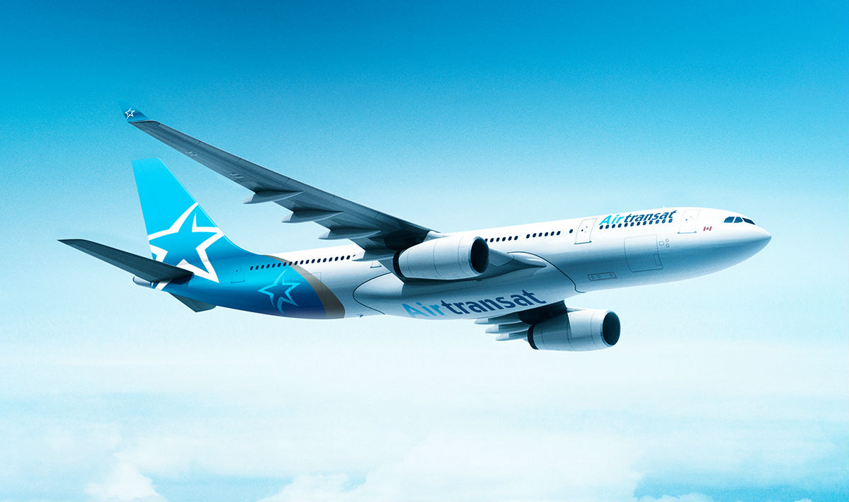 Air Transat's brand-new livery featuring the iconic star and touches of grey from its very first livery. Transat A.T. Photo