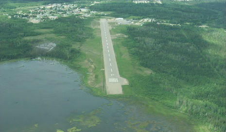 Aerial view of Nakina airport