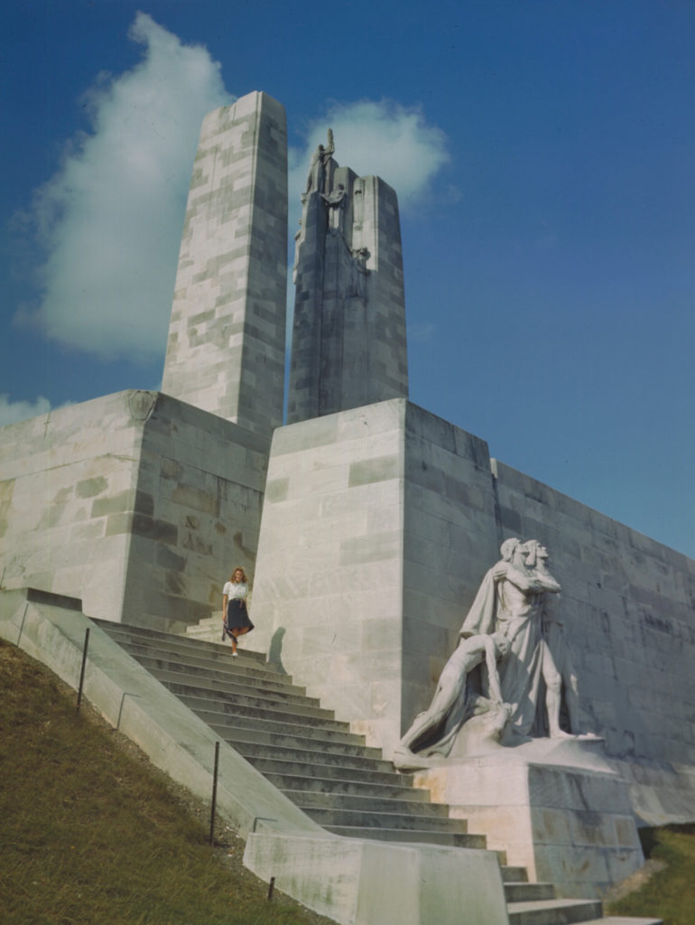 An undated photo of the Canadian National Vimy Memorial, showing the group of figures known as