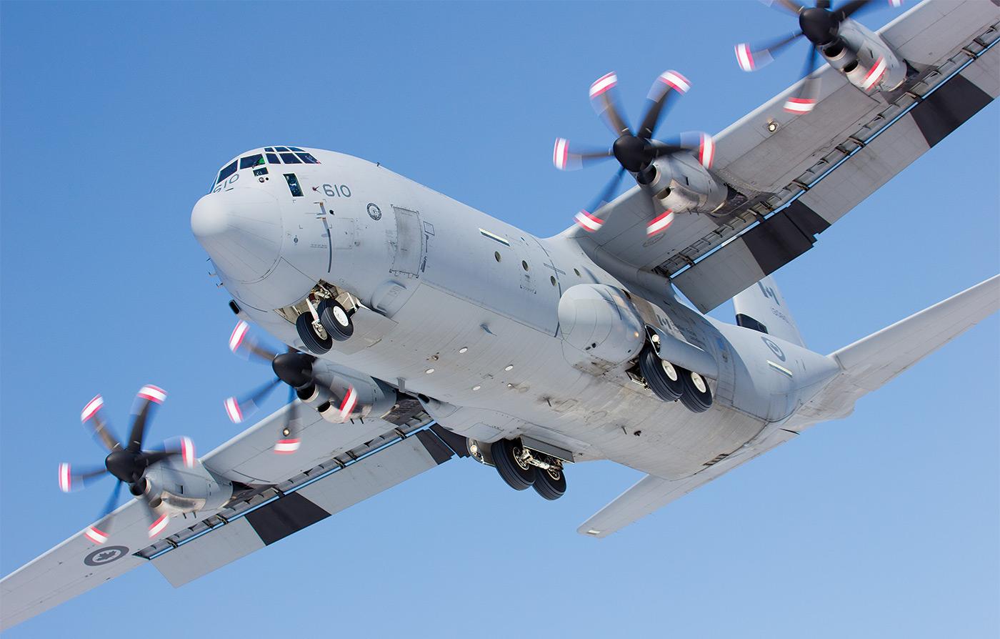 CC-130J Hercules in flight