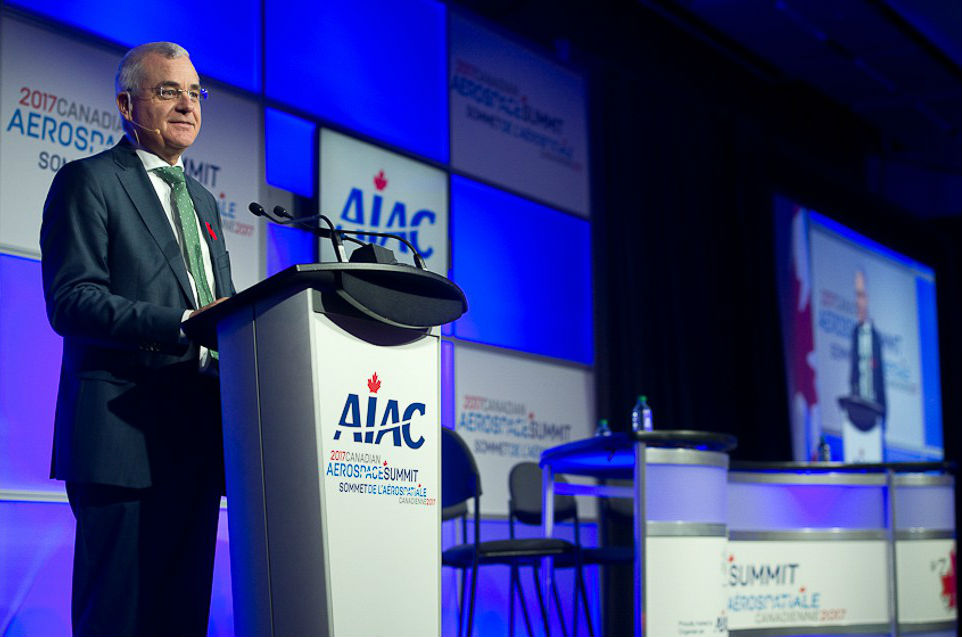 Manfred Hader, senior partner with global consultancy Roland Berger, speaks at the Canadian Aerospace Summit on Nov. 8, 2017.