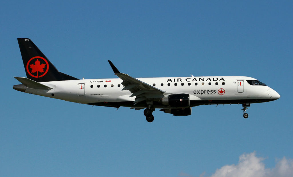 Sky Regional's fleet is comprised exclusively of Embraer 175 jet aircraft, operating Air Canada Express flights on behalf of Air Canada. Jet Photos Image