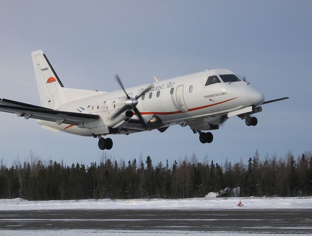 Saab 340 in flight