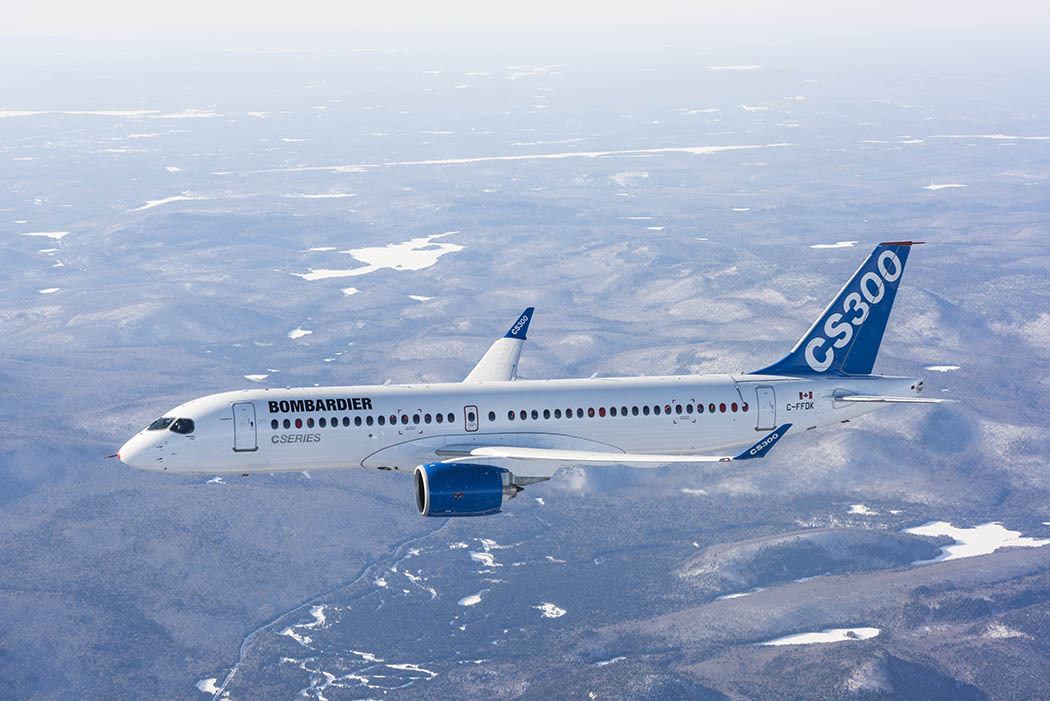 CS300 in flight