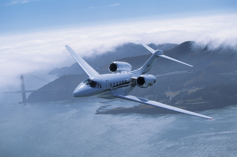 Citation X in flight