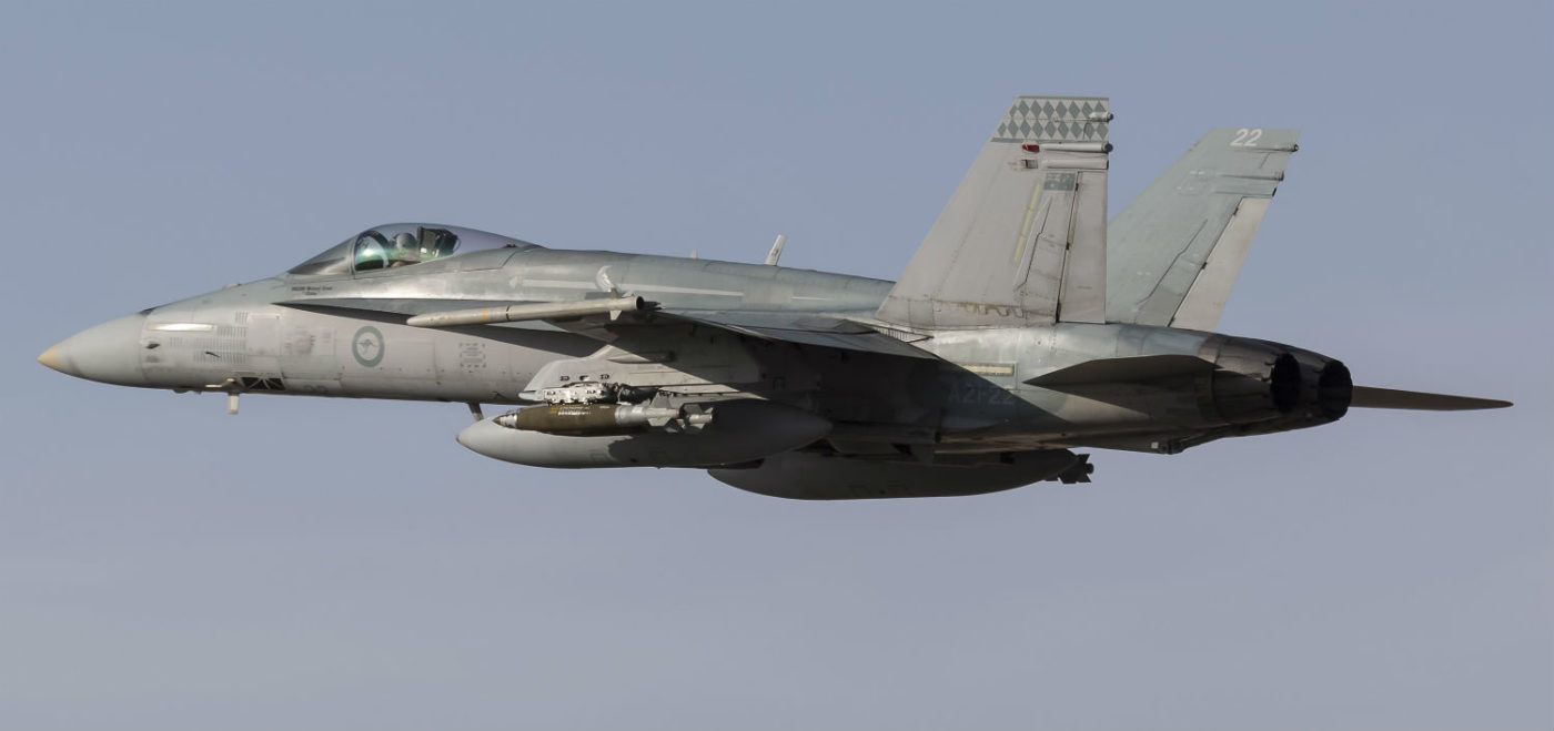 F-18 Hornet in flight