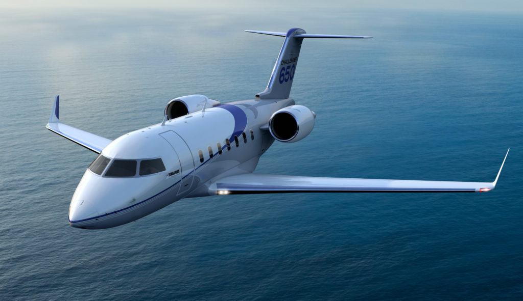 Challenger 650 in flight