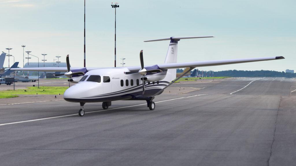 Passenger version on runway