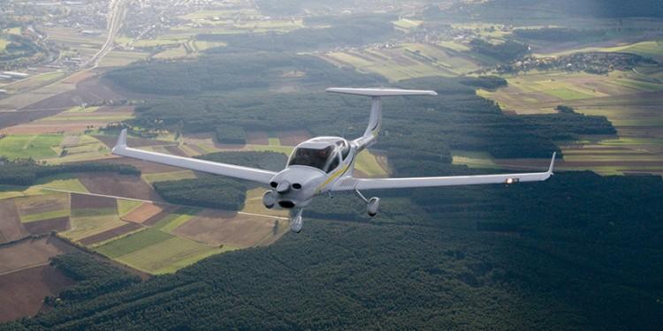 DA40 NG in flight