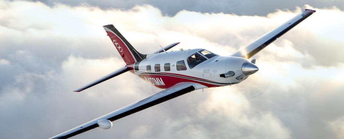 Piper M600 in flight