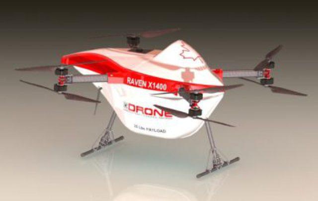 Raven X1400 drone rests on floor