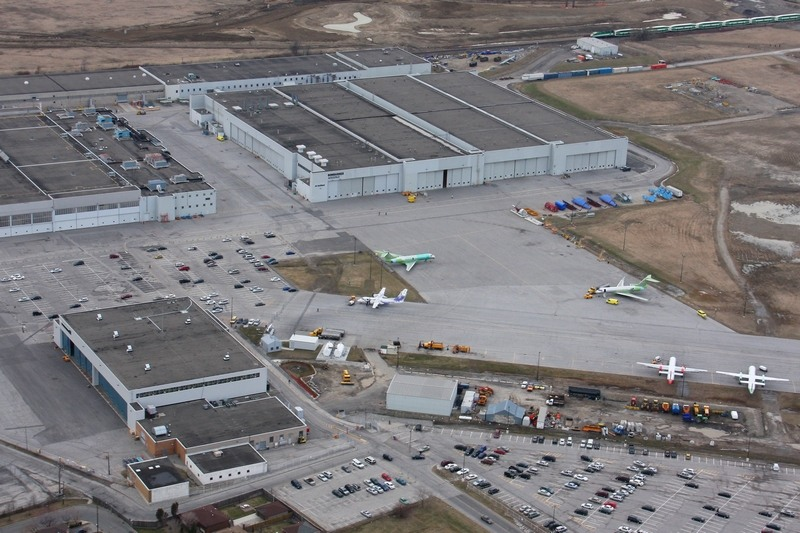Aerial view of Downsview Airport