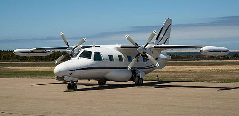 Pictured here is the occurrence aircraft. The Mitsubishi MU-2 is a high-performance, twin-engine turboprop certified for single-pilot operations. TSB/Daniel Villeneuve Photo