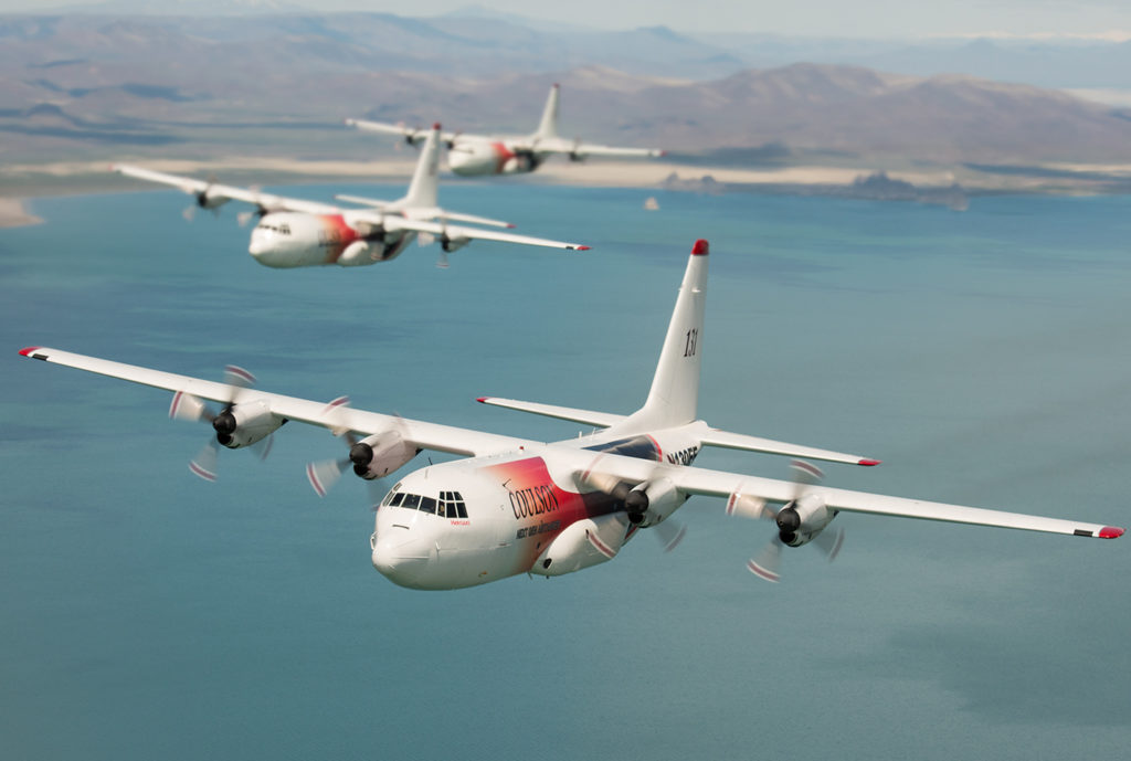 Three Coulson C-130s in flight