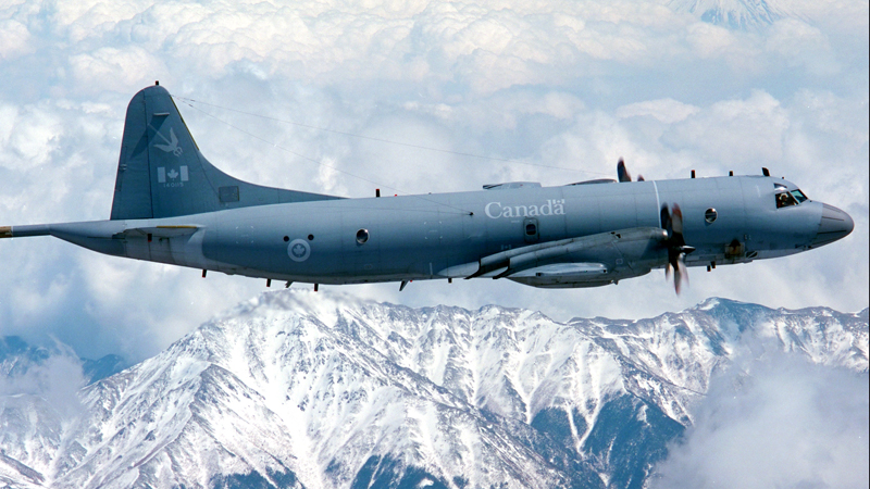 The Canadian Armed Forces are deploying a CP-140 Aurora aircraft, along with naval ships, to impose sanctions against North Korea. Canadian Forces Photo