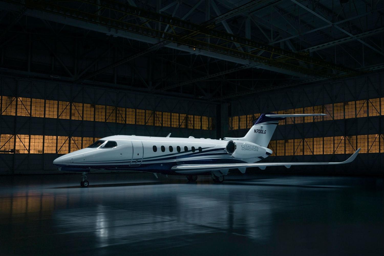 Longitude rests in a hangar