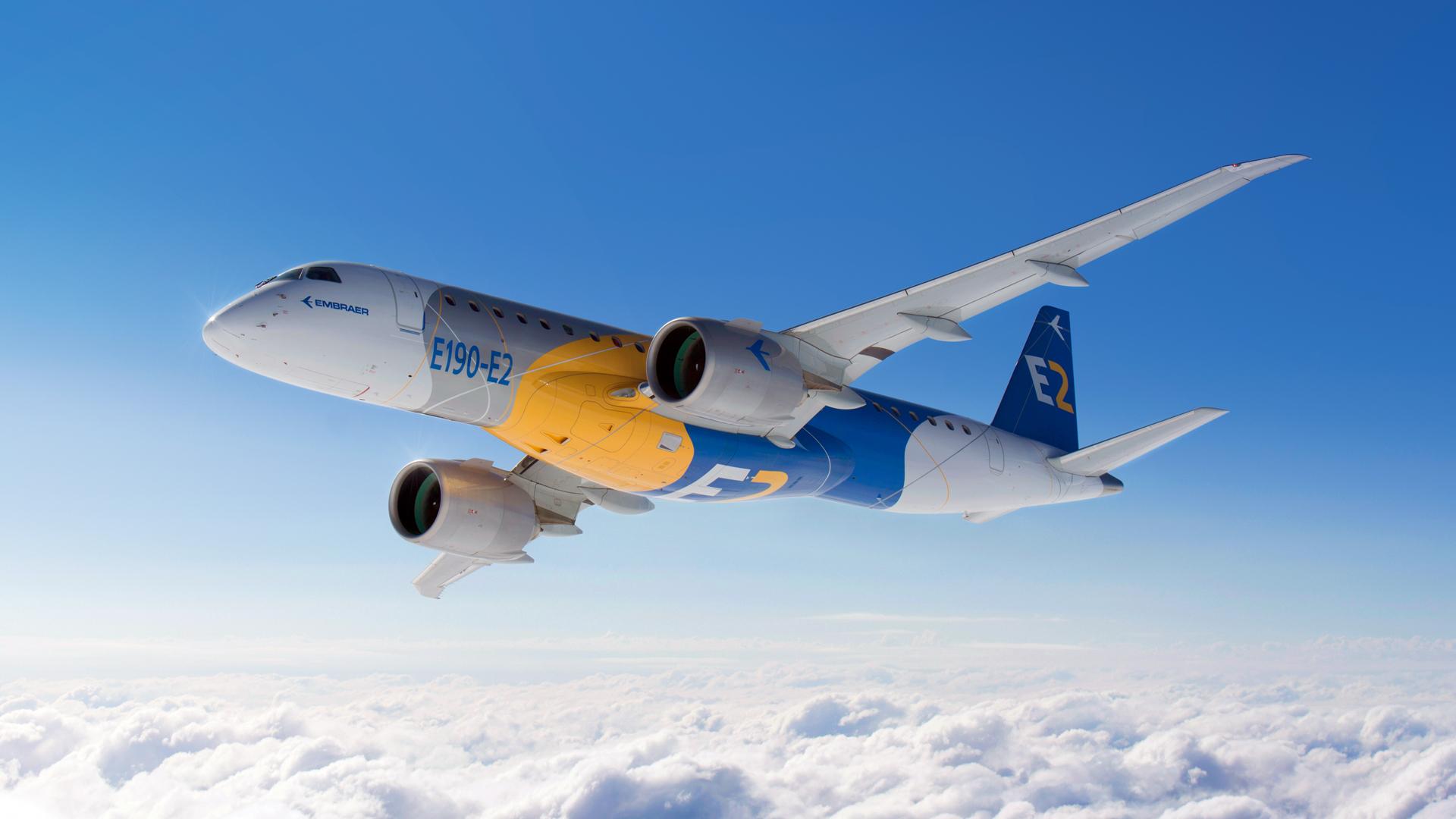 E190-E2 in flight