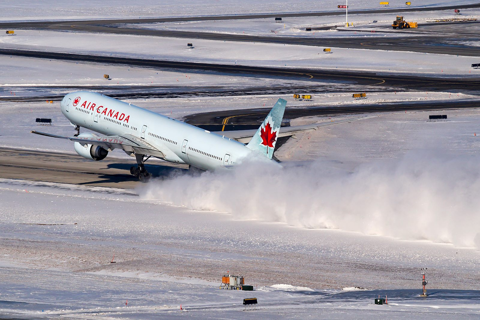 An Air Canada departs Toronto for a Trans-Polar flight to the Orient. Photo submitted by David Brook‎