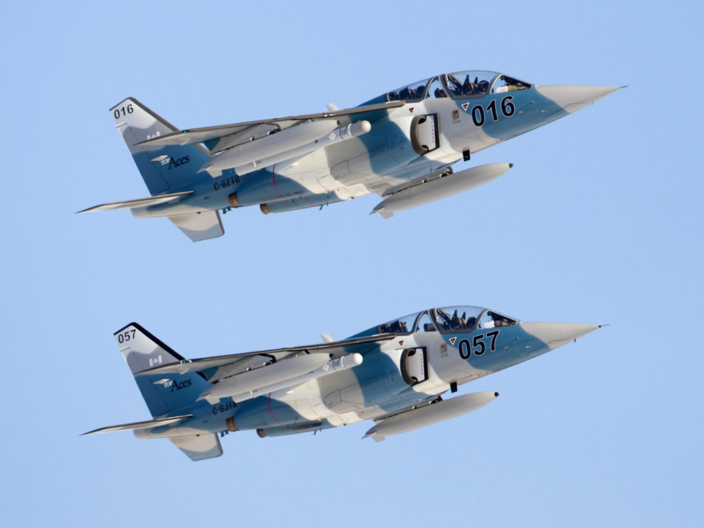 The Top Aces' fleet includes a mix of Dornier Alpha Jets, Douglas A-4 Skyhawks, Learjet 35As, Westwinds and a future fleet of F-16s. Mike Durning Photo