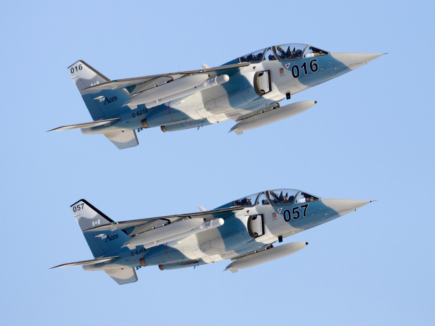 Two Alpha Jets in flight