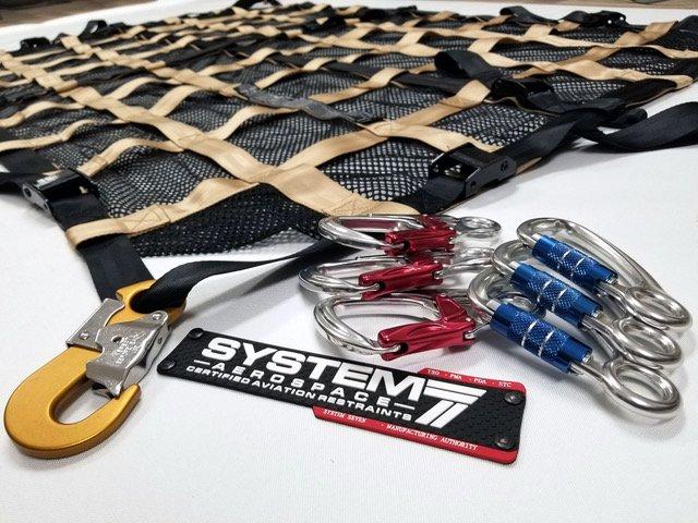 Closeup of engineer-certified restraints.