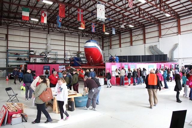 The Girls Take Flight event showcases static display of aircraft, as well as roughly 20 indoor exhibits/booths. Girls Take Flight Photo