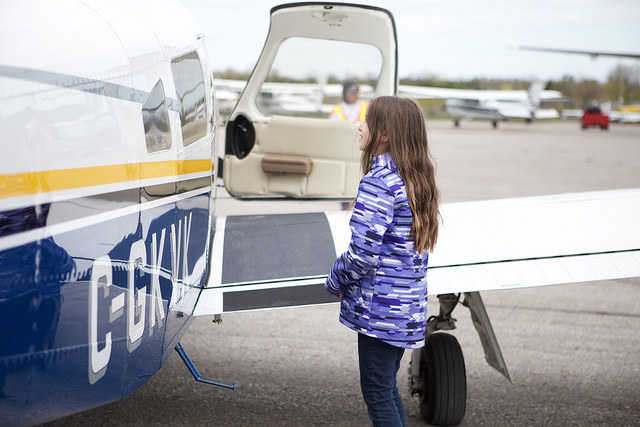 """Younger girls don't have that same bias that older girls and women have, which is that [aviation is] for men,"" said Page. Girls Take Flight 2017 Photo"