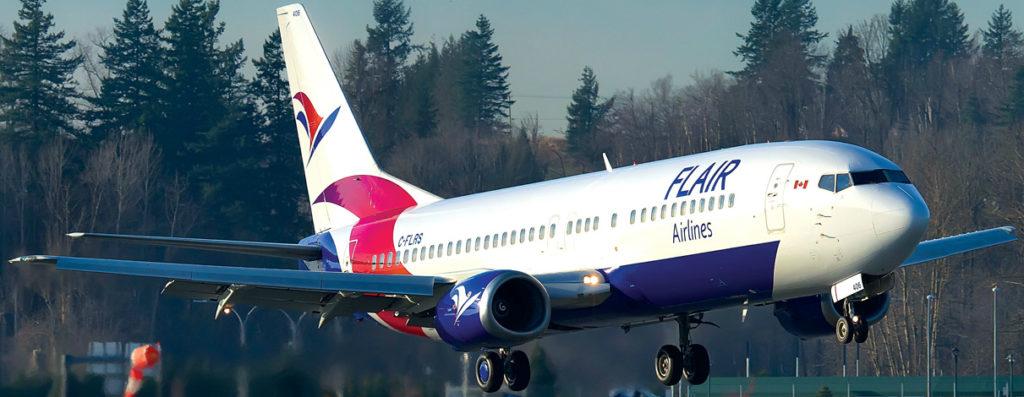 Flair plane in flight
