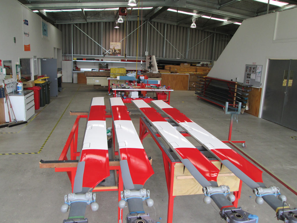 The Oceania rotor blade repair centre in New Zealand.
