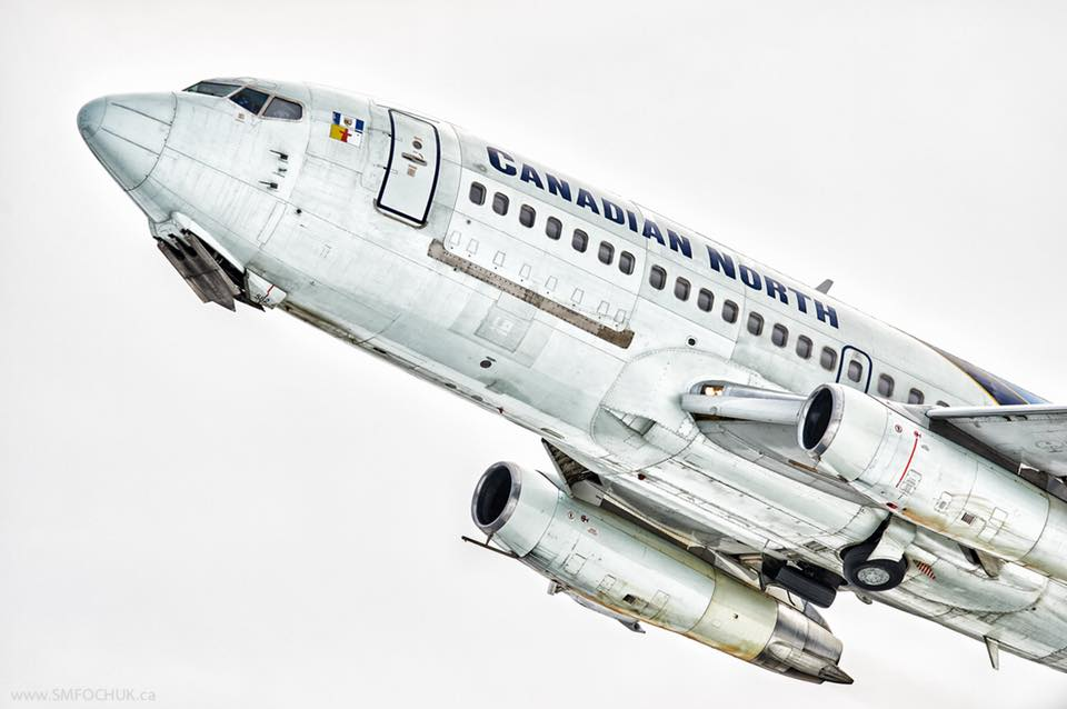 Canadian North blasting off runway No. 34 at the Yellowknife Airport on a overcast day in the Great White North. Photo submited by Stephen M. Fochuk
