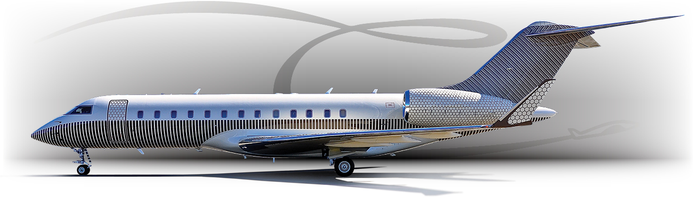 Exterior photo of Bombardier Global business jet
