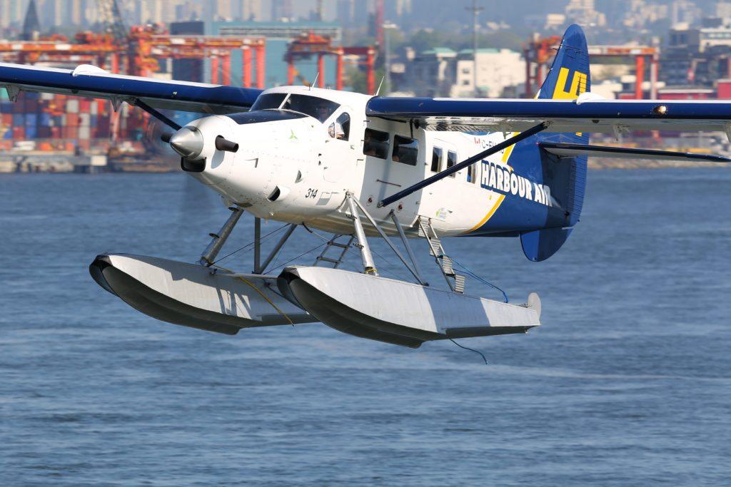 Harbour Air seaplane in flight