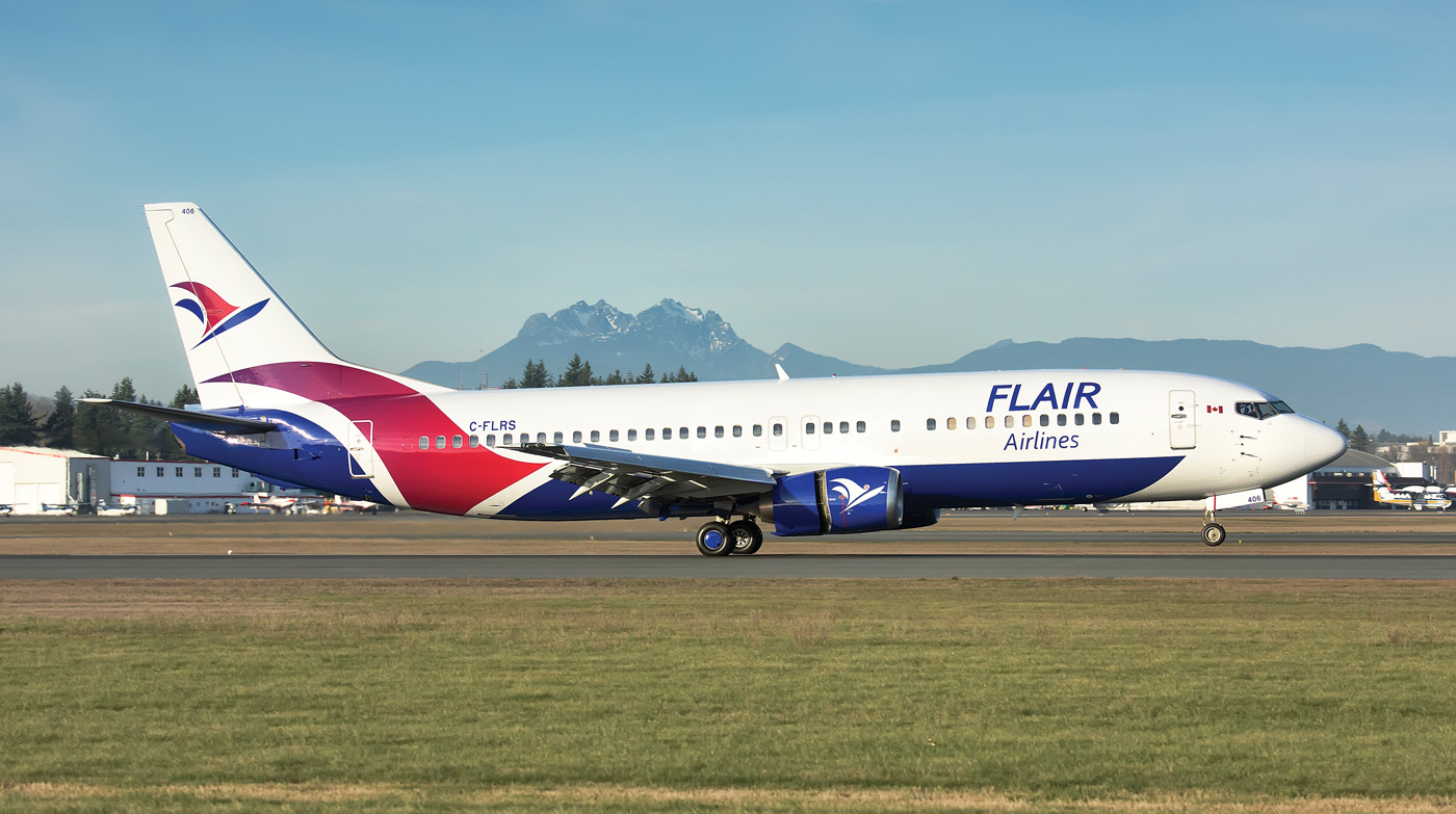 Flair airliner on runway