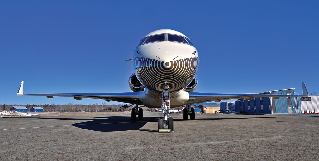 Global Express, on the ramp