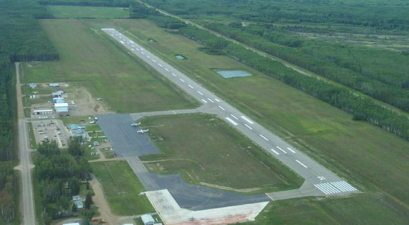 High Level Airport in Clairmont, Alta., (pictured) is among the 11 airports receiving safety-related improvements. The airport will receive rehabilitation of Runway 13-31 and Taxiways A and B. Airports-Worldwide Photo