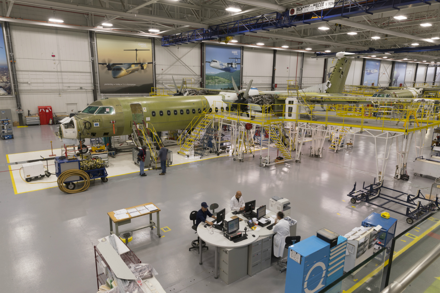 Image result for Bombardier Q400 assembly line