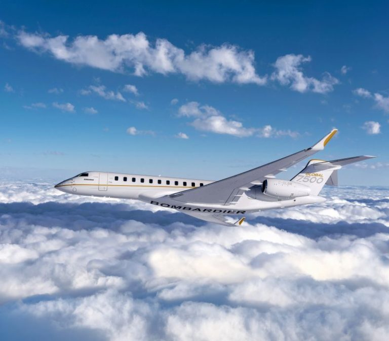 Global 7500 aircraft in flight