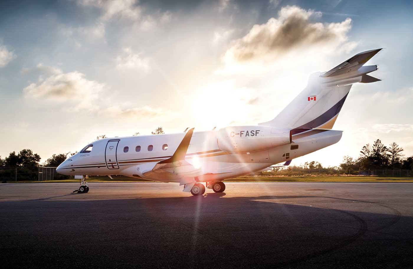 AirSprint operates a fleet of 12 aircraft, including Embraer Legacy 450, Cessna Citation CJ2+, and Cessna Citation CJ3+ business jets. Adam Falwell Photo