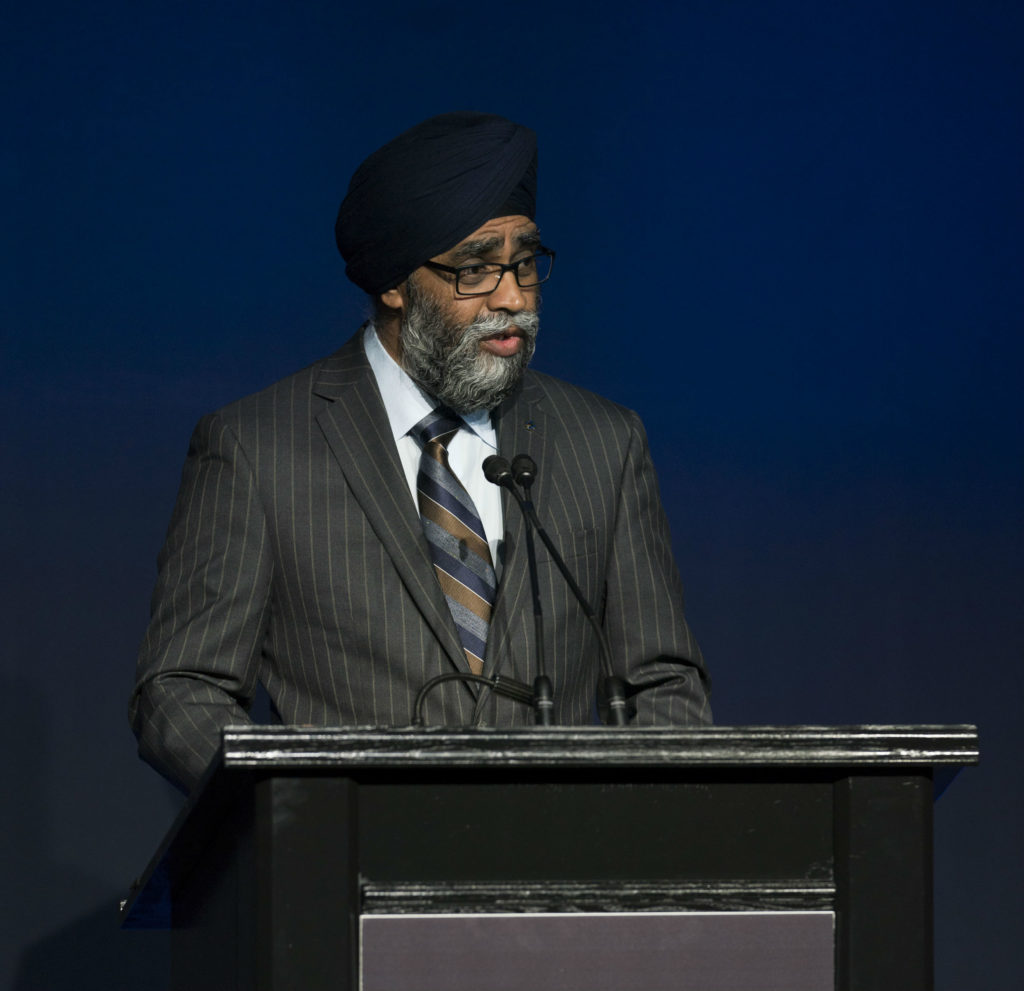 Defence Minister Harjit Sajjan at the 2018 CANSEC trade show in Ottawa, Ont., where he unveiled the details of the Canadian Armed Forces defence investment plan. Pinar Tuncer Photo