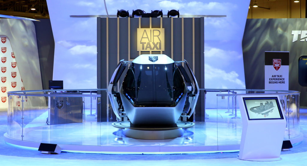 New regulations will need to be written before Transport Canada or the FAA can certify the airframe airworthiness, electric hybrid propulsion system and remotely piloted operational procedures for new urban air mobility vehicles. Shown here is Bell's new Urban Air Taxi concept demonstrator. Bell Photo