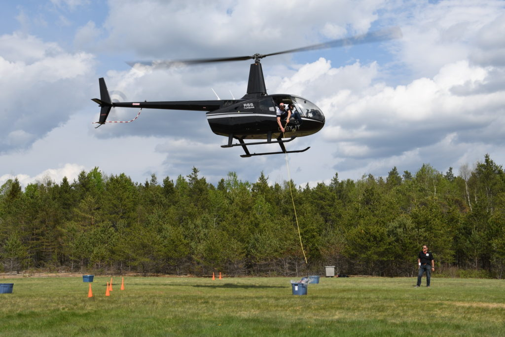 Seven teams participated in the competition this year, primarily flying Robinson R44s and an R66. Ken Swartz Photo