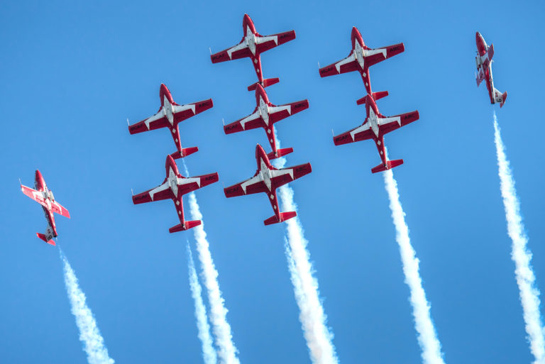 The Canadian Forces Snowbirds will put on a display at this year's Bell Fort Worth Alliance Air Show, to be held mid-October at Fort Worth Alliance Airport. Stuart Sanders Photo