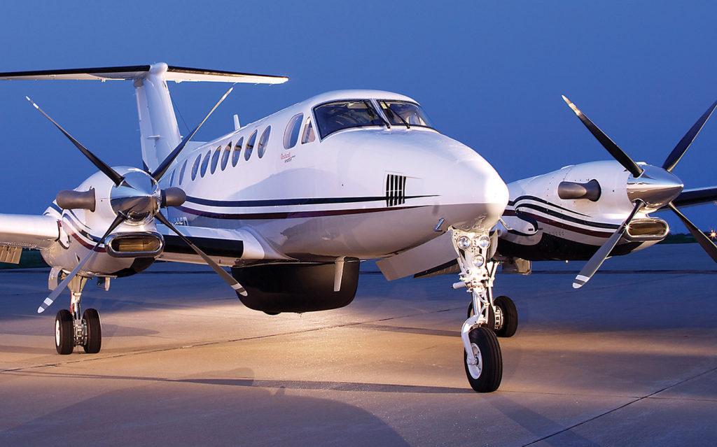 King Air rests on ground