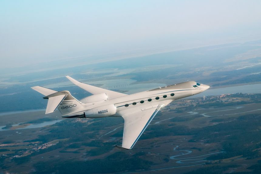 Gulfstream G600 in flight