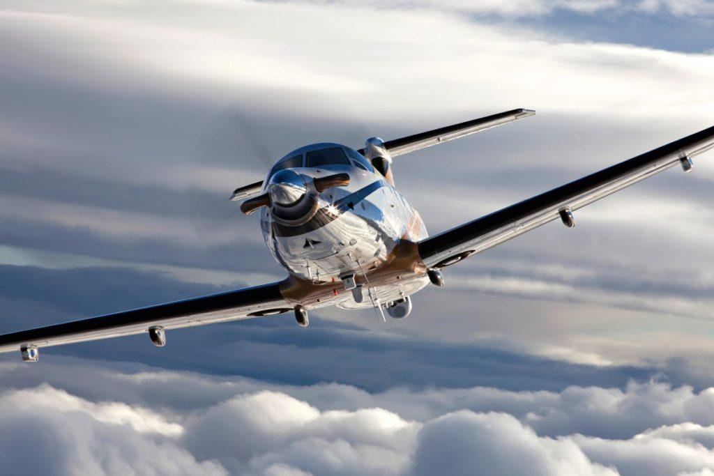 PC-12 NG in flight