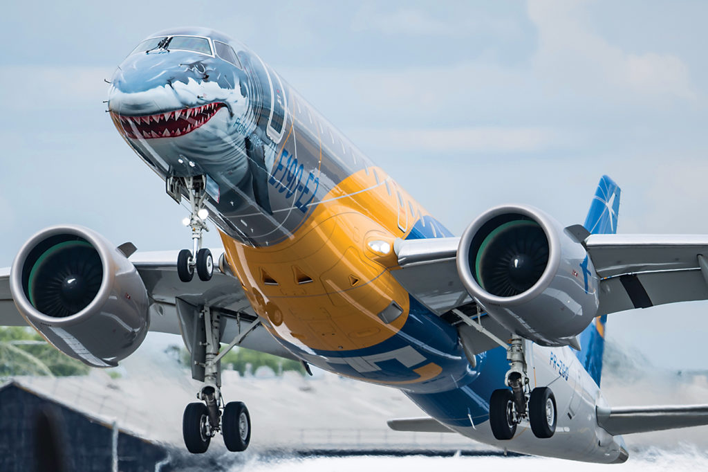 Embraer's E190-E2 'Profit Hunter in flight
