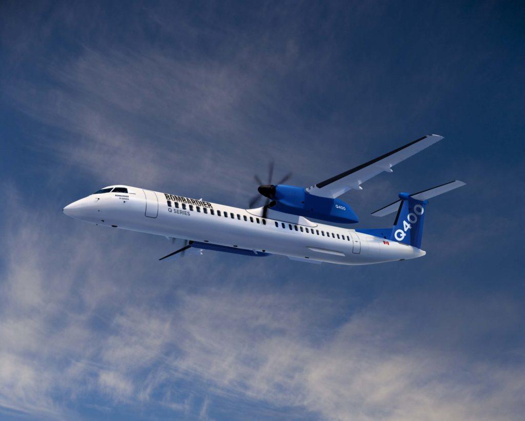 Q400 in flight