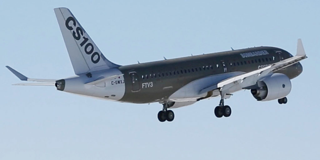 CS100 lands at St-Hubert