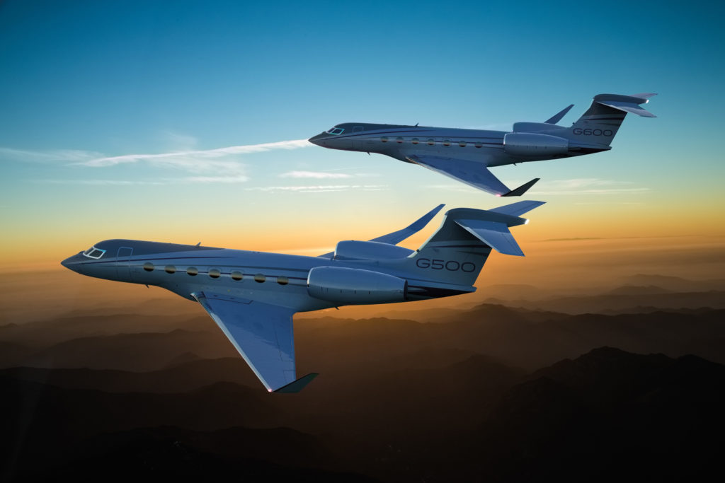 Gulfstream G500 and G600 fly together.