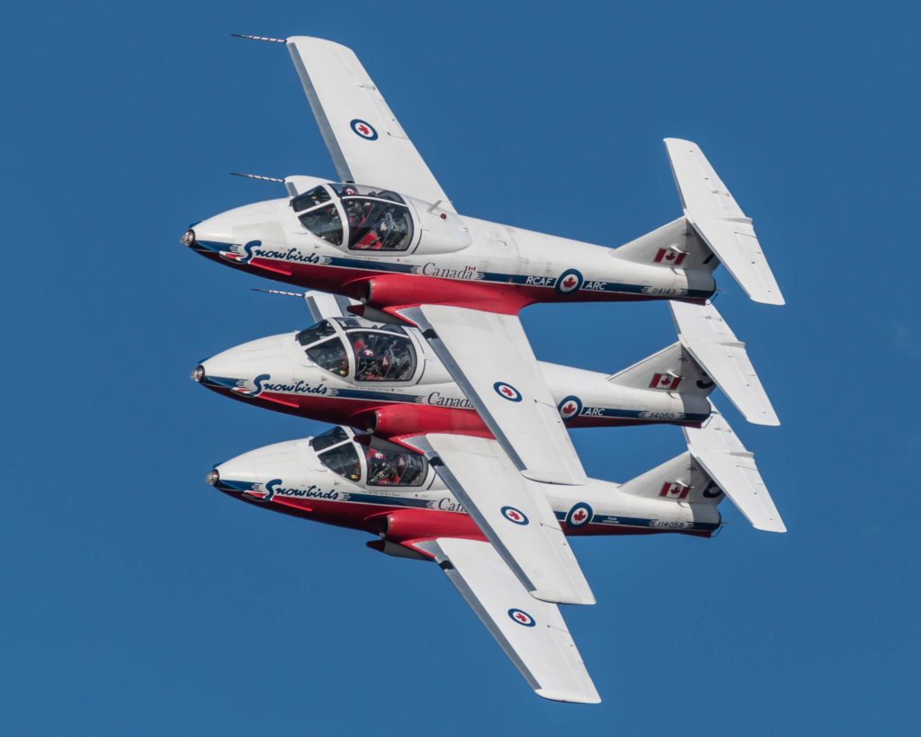 The RCAF is now confident that the CT-114 Tutors parked at Falcon Field in Peachtree City, Ga., can be safely flown home to 15 Wing Moose Jaw in Saskatchewan. Derek Heyes Photo